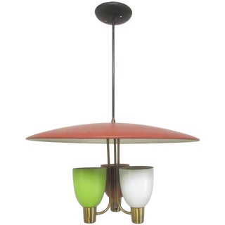 Pendant Chandelier, Circa 1950s, Style of Gerald Thurston for Lightolier For Sale
