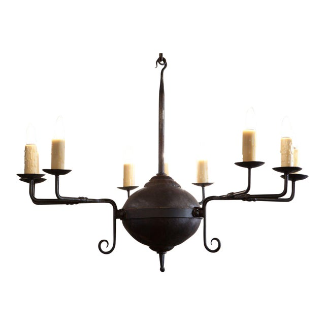 incredible custom hand forged iron mercer chandelier with nine