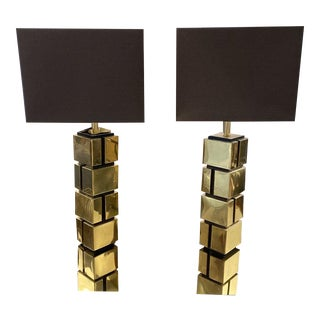 Eichholtz Reynaud Brass Table Lamps - a Pair For Sale