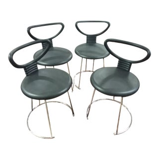 1980s Vintage Nardis Chairs by Nobu Tanigawa for Fasem - Set 4 For Sale