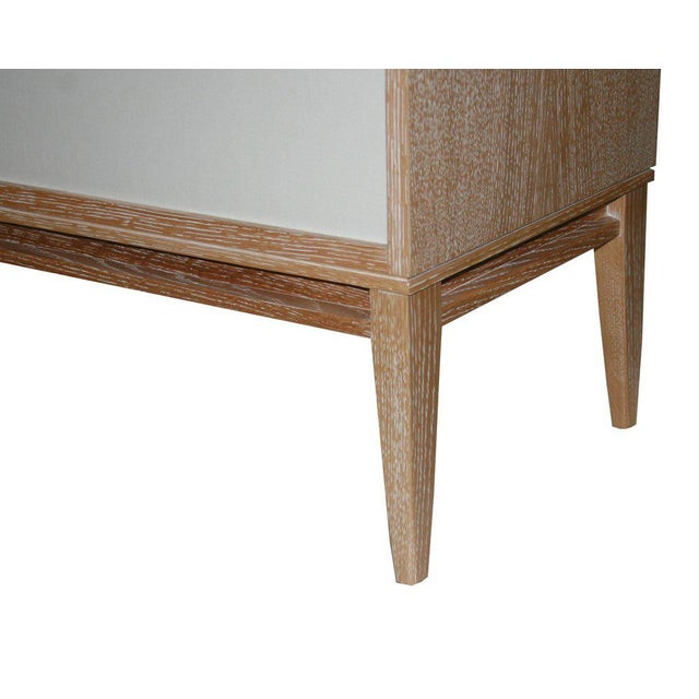 Customizable Bishop Lacquered Linen Door Console For Sale - Image 4 of 9