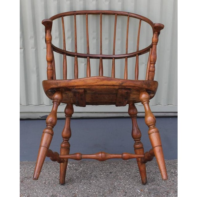 18th Century Sack Back Extended Arm Windsor Chair - Image 8 of 9
