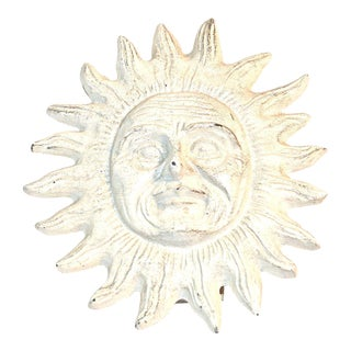 Vintage Ivory Smiling Sun Door Knocker For Sale