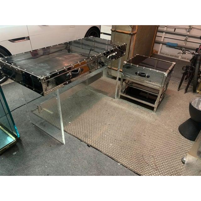 Eichholtz Trans-Atlantic Trunk Desk For Sale - Image 4 of 5