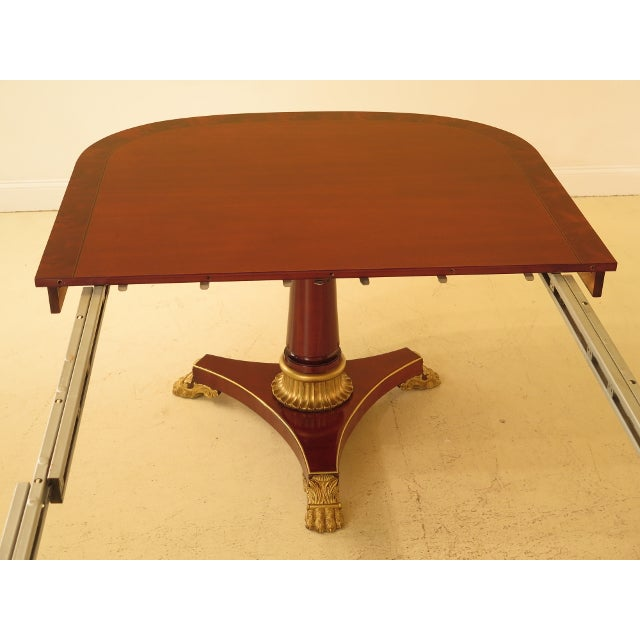 1990s Vintage Kindel NeoClassical Mahogany Dining Room Table For Sale - Image 10 of 13