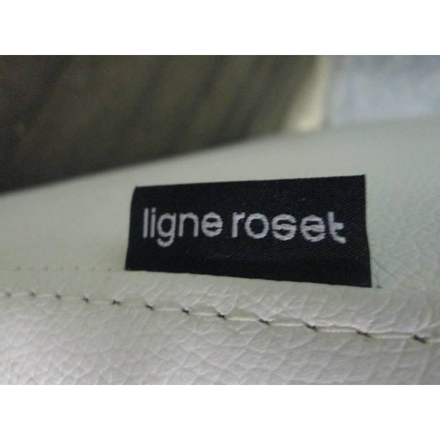 Leather Lounge Chair and Ottoman by Ligne Roset For Sale - Image 10 of 10