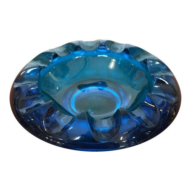 Vintage Blue Art Glass Dish - Image 1 of 6