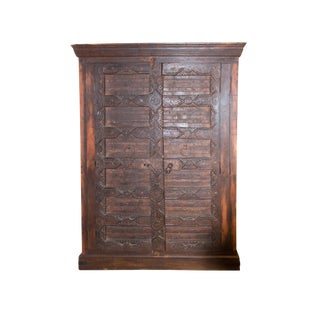 Handcrafted Solid Wood Rustic Armoire