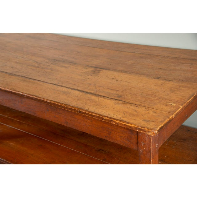 French 19th Century French Pine Drapers Table With Original Finish For Sale - Image 3 of 13