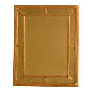 Friedman Brothers Gold Gilt Rectangular Mirror For Sale