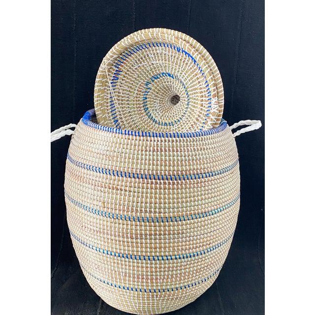 Basket With Lid Senegal West Africa For Sale - Image 4 of 8