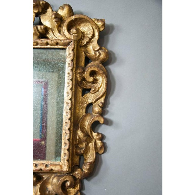 Italian Baroque Giltwood Mirror - Image 3 of 8