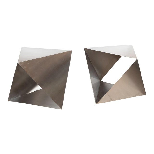 Modular Polyhedron Side Tables by Manfredo Massironi For Sale