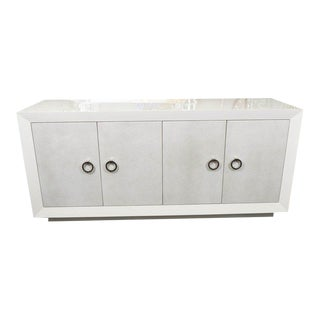 Custom Lacquer Sideboard with Faux Shagreen Doors For Sale