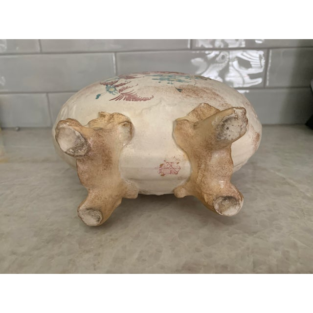 Ceramic Antique 1860 Samuel Moore & Co. Chinoiserie Moon Vase For Sale - Image 7 of 9