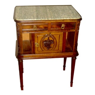 19th Century Louis XVI Bedside Table For Sale