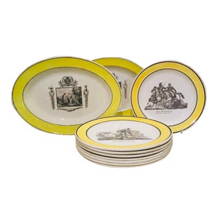 Collection of Creamware Plates and Serving Pieces - 10 Pieces For Sale
