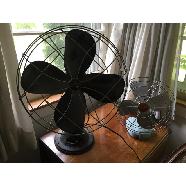 1950s Vintage Table Fans - a Pair For Sale - Image 9 of 12