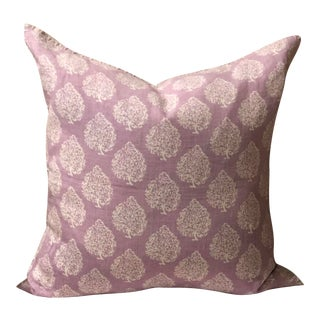 John Robshaw Mali Pillow Cover in Lilac For Sale