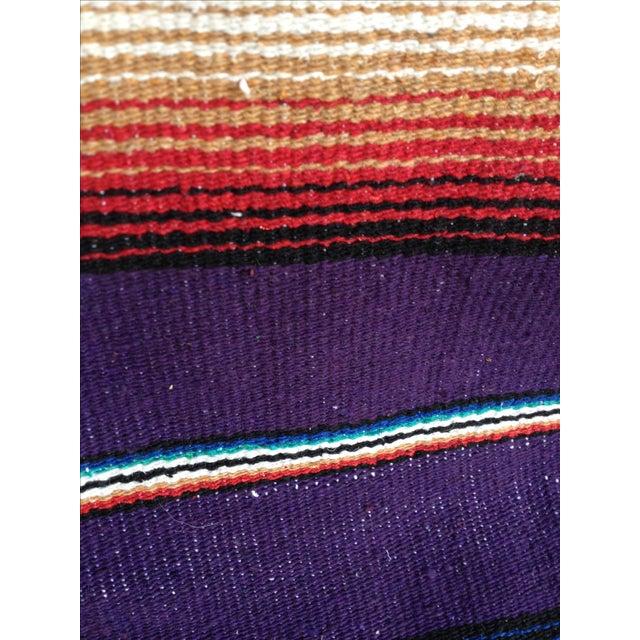 Purple Striped Serape-Style Throw - Image 8 of 8