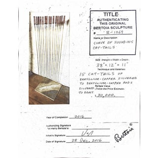 """Large Val Bertoia 15-Rod """"Curve of Sounding Cat Tails"""" Sculpture, 2016 Preview"""