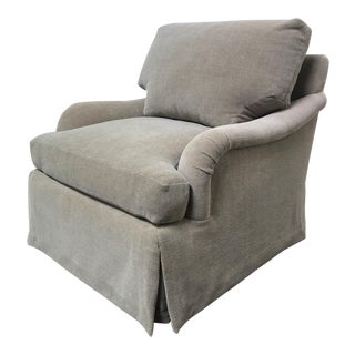 RJones Martin Skirted Beige Lounge Chair
