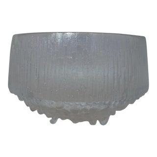 Timo Sarpaneva Crystal Iittala Finland Kekkerit Glass Bowl