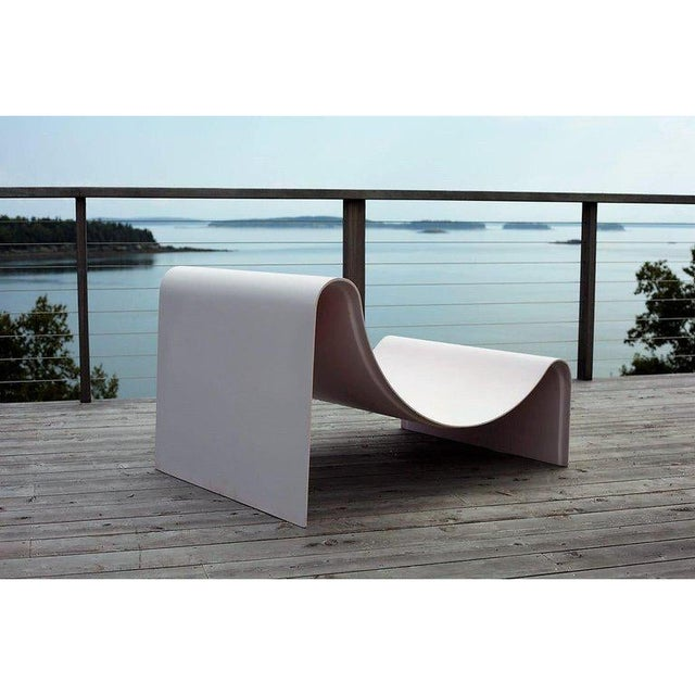 Contemporary Minimalist Asa Pingree Knockabout Fiberglass Powder Pink Lounge Chair For Sale - Image 3 of 12
