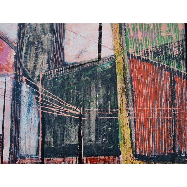 Mid-Century Modern Paul Arthur Lingren Gouache Painting, 1953 For Sale - Image 3 of 6