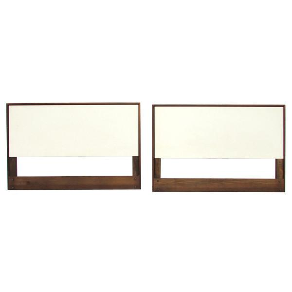 Knoll White Laminate Twin Headboards - Pair - Image 1 of 2