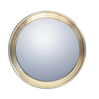 Vintage Mastercraft Round Brass Mirror For Sale