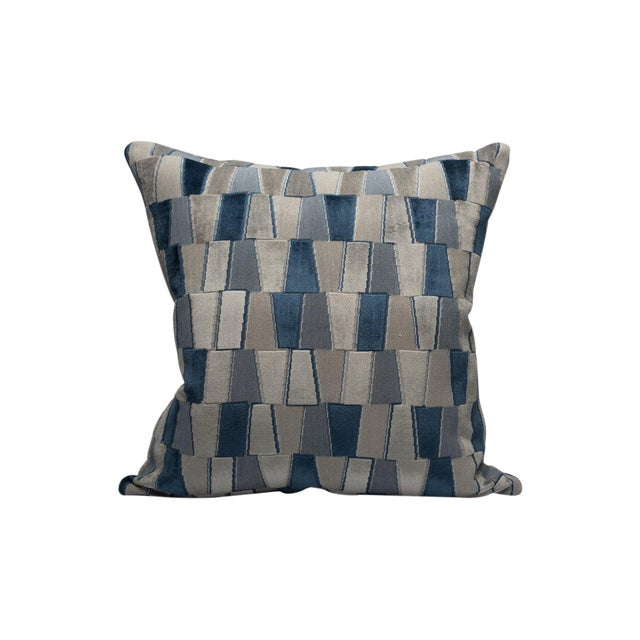 Scalamandre Facets Pillow, Sapphire For Sale