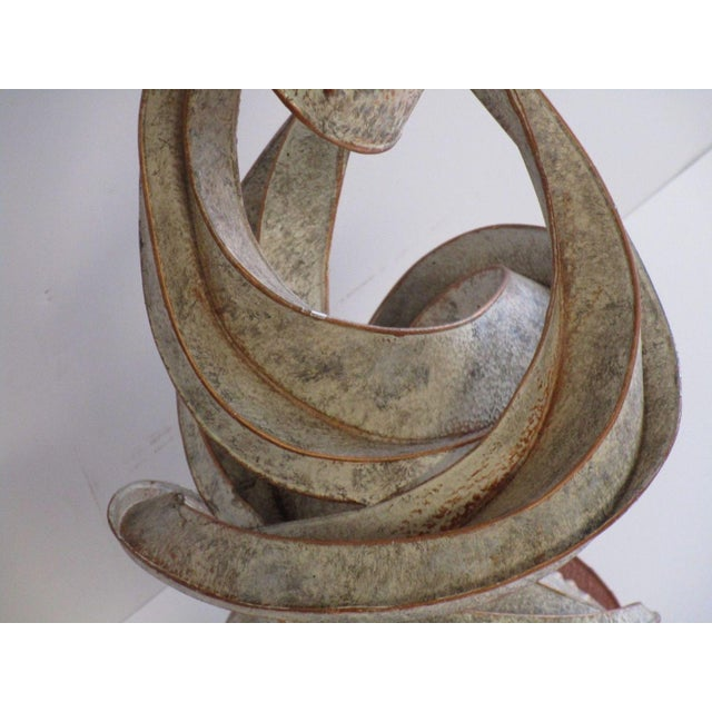 Aluminum Expressionist Abstract Metal Sculpture For Sale - Image 7 of 13