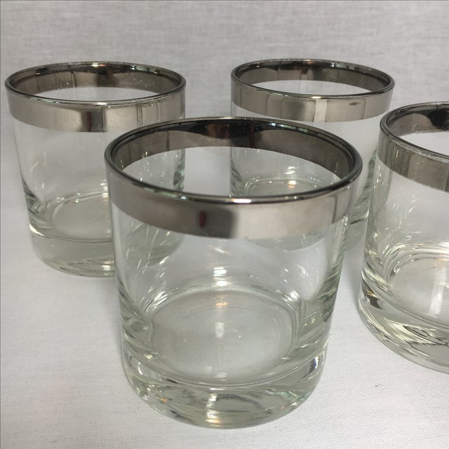Mid-Century Silver Cordial Glasses - Set of 4 - Image 3 of 4