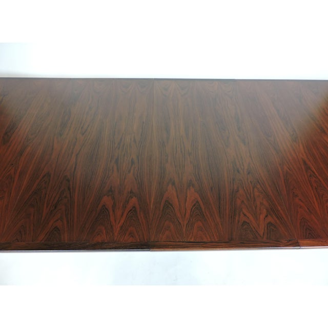 Arne Vodder Expandable Danish Modern Rosewood Dining Conference Table Model 201 For Sale - Image 12 of 13