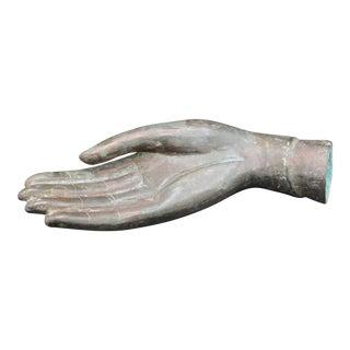 Vintage Bronze Hand Sculpture For Sale