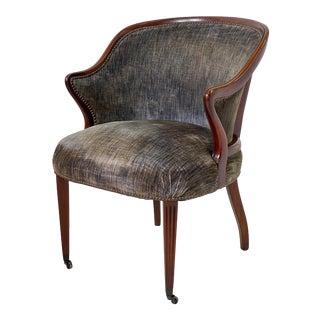 Art Deco Armchair of Mahogany, Circa 1940s For Sale