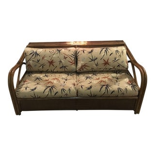 Rattan & Wicker Sleeper Settee by Henry Link for Lexington