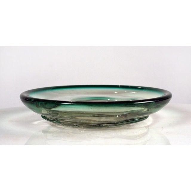 Italian Italian Glass 'Fish Bowl' Dish For Sale - Image 3 of 8
