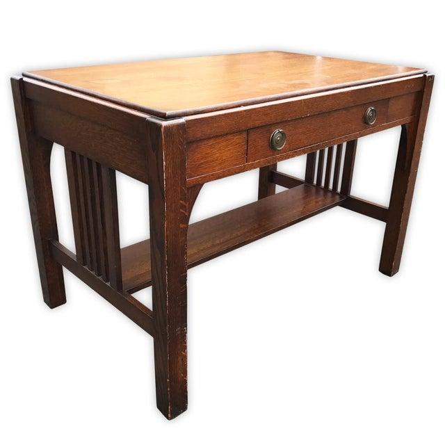 Antique Mission Oak Arts & Crafts Desk - Image 1 of 6