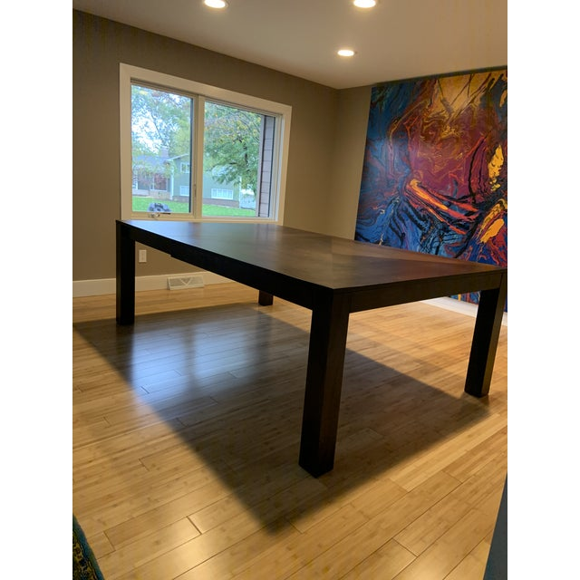 2010s Modern Dining Table & Leather Chairs For Sale - Image 5 of 9