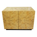 Image of Milo Baughman For Thayer Coggin Burl Wood Nightstand For Sale