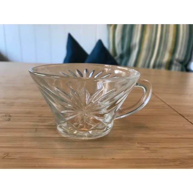 Glass Anchor Hocking Star of David Punch Bowl Set For Sale - Image 7 of 10