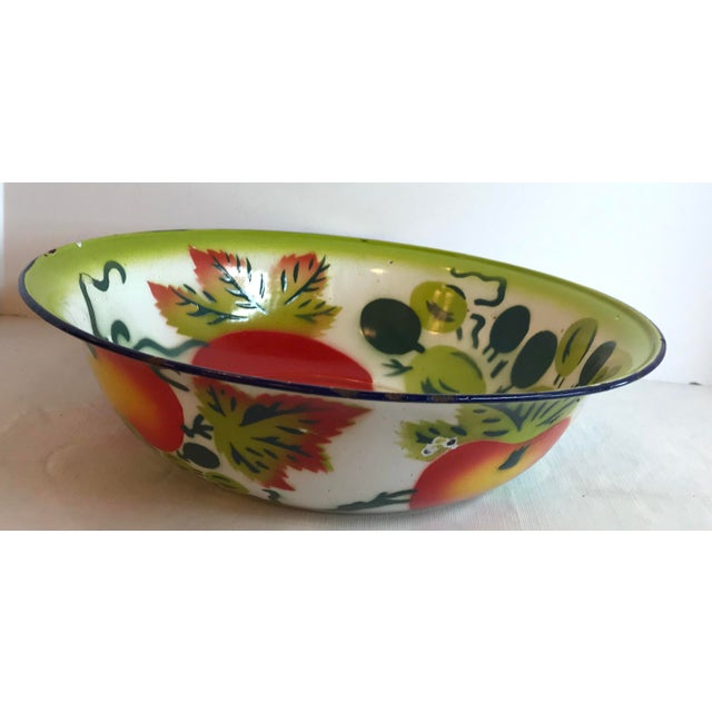 Mid 20th Century Vintage Mid Century Enamel Vegetable Bowl For Sale - Image 5 of 7