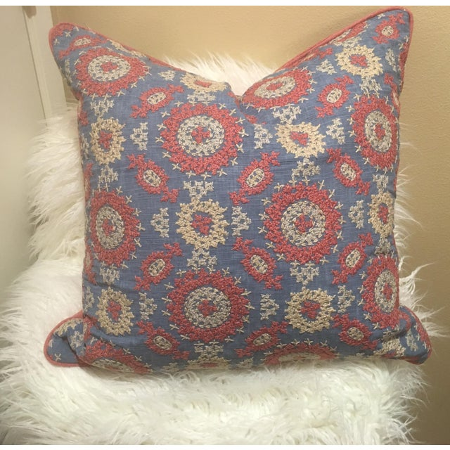 2010s Ralph Lauren Layla Embroidery Pillow For Sale - Image 5 of 5