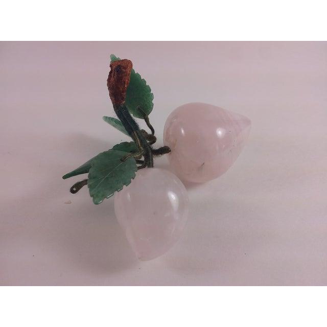 Rose Quartz And Jade Stone Fruit Apricots - Image 2 of 5