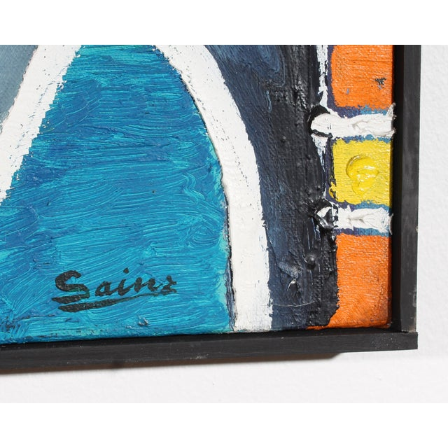 A signed oil on canvas painting by Spanish artist Francisco Sainz (1928-1988). Signed to the lower right, this colorful...
