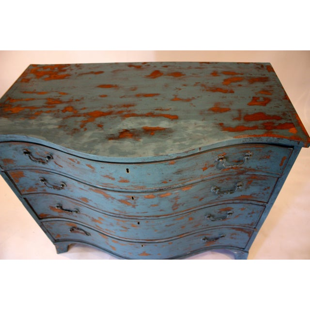 1900s Rustic Copper Highlighted Commode For Sale - Image 4 of 5