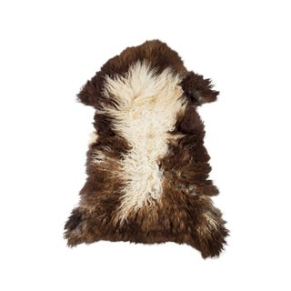 "Contemporary Natural Wool Sheepskin Pelt - 2'3""x3'4"" For Sale"