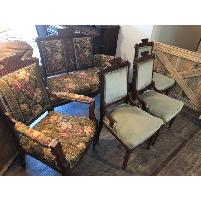 Eastlake Parlor Sofa & Chairs Set For Sale - Image 12 of 13